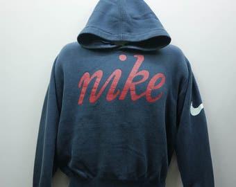 Vintage Nike Hoodies Big Spell Out Sportswear Street Wear Pull Over Sweatshirt Size M