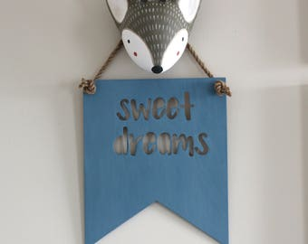 Sweet Dreams - Hanging Decor Baby - Dream Sign - Shabby Chic Nursery - Farmhouse Nursery - Quotes for Nursery - Nursery Wall Sign