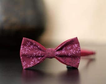 """Burgundy with butterfly print """"branches"""""""