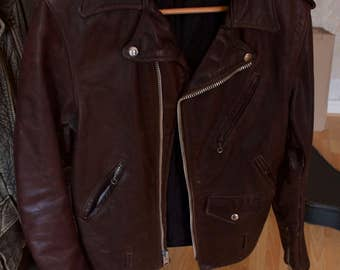True vintage brown leather jacket leather jacket