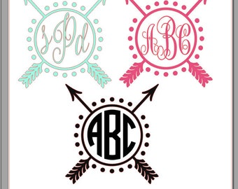 Arrow Monogram Design Decal