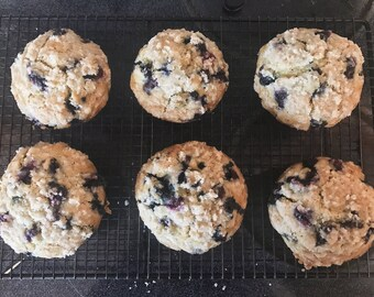 Jumbo Vegan Blueberry Muffins