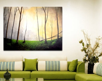 Painting ' Breaking clouds ' (modern painting, for interior decoration and atmosphere, 120 x 90)