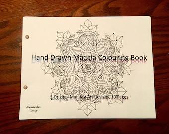 Hand Drawn Madala Colouring Book