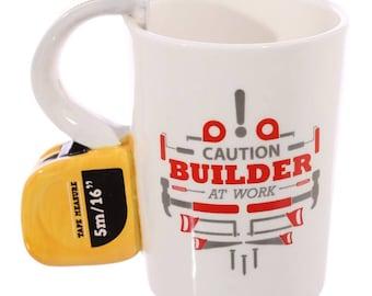 Tape Measure Handled Mug | Builders | DIY
