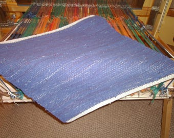 Square woolen rug 22x22""