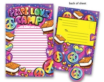 Camp Seal-N-Send Stationery - Airbrush Love