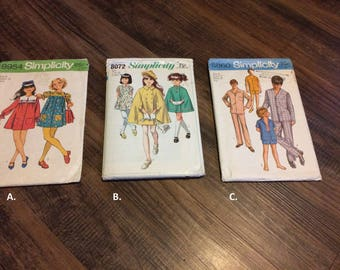 Vintage kids patterns