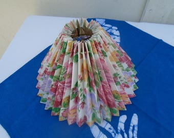 Lamp shade made of plastic vintage clip