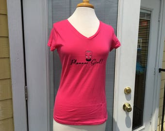 Planner Girl Shirt with Fancy Cup
