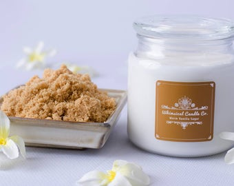 Warm Vanilla Sugar Organic Soy Candle - Every candle contains a guaranteed cash prize inside between 1.00 and 2,500.00 !!