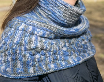 Hand Knit wool scarf , Warm  knitwear , Neckwarmer , Winter Accessories , Women Knit Scarf , Spring scarf , Handknit Neckwarmer , Handmade