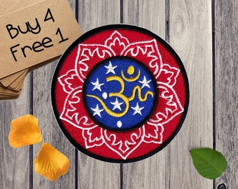 Lotus Patches Buddhism Patches Iron On Patch Applique Patches For Jackets