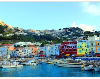 Capri: Table travel photography large format - perfect for decorating your home or give as a gift!