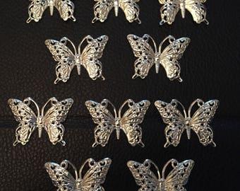 SALE ITEM 10 metal butterflies