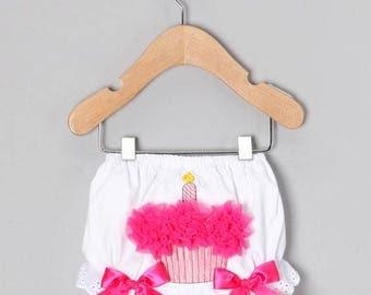 Cupcake baby bloomers - Hot pink