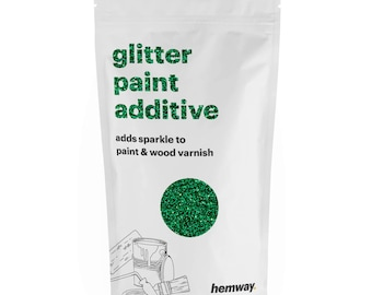 Hemway Glitter Paint Crystals Additive 100g for Emulsion - Emerald Green