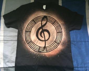 Treble Clef - Bleached Shirt