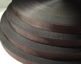 3/4 inch brown nylon webbing
