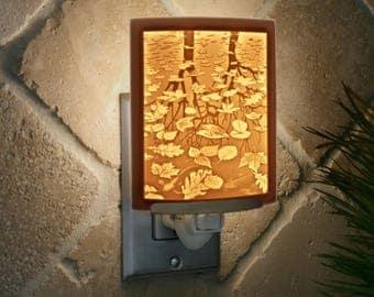 Still Reflections Porcelain Lithophane Night Light