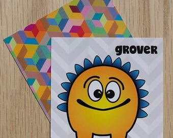"Replacement Card ""Grover"" — Oh Those Monsters: Memory Game"