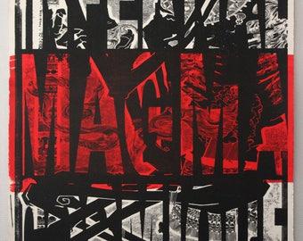 Poster print red Magma