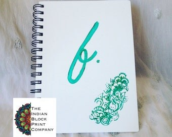 A5 Floral Initial Wiro Notebook Ruled