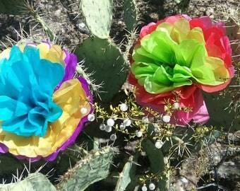 Large flores de papel mexicanas