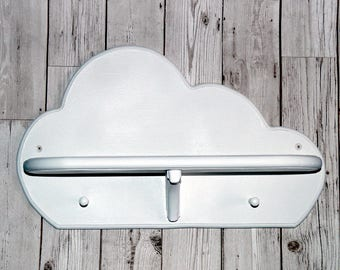 Cloud Shelf with Coat Pegs - Nursery Shelf - Nursery Coat Pegs