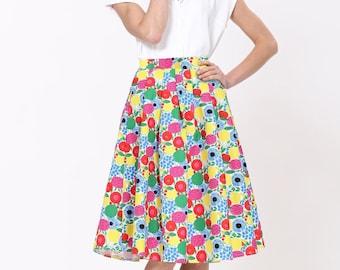 Full Midi Skirt- Floral Print
