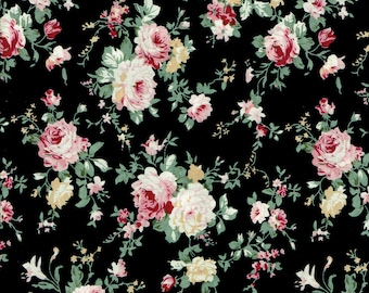 Rose Garden // Cotton Fabric/ By The Yard