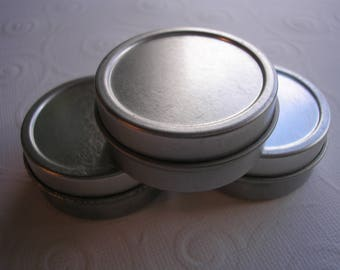 metal tins round set of 3 tins 5 oz each container for storing small items wedding favors party favors paint or decorate small gift box