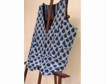 Reversable Indigo Vest