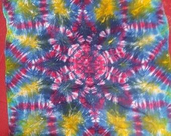 Mandala Skyfold Tie Dye Bandana