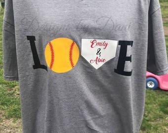 LOVE Baseball/Softball Shirts
