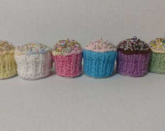 Hand Knitted Cupcake