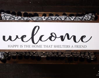 Welcome Wood Sign *READY TO SHIP*