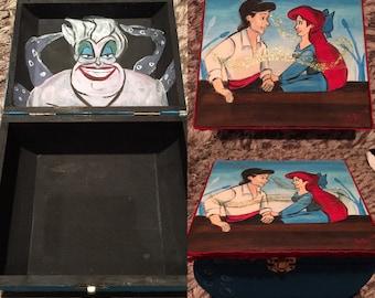 Hand painted Disney The Little Mermaid box