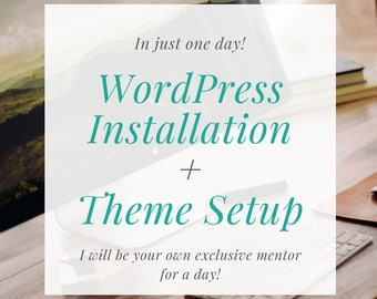 I will help you set up your Wordpress website step by step
