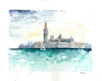 Venice cityscape original watercolour