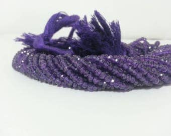 African Amethyst Faceted Rondelle Beads Strand | African Amethyst Rondelle | Amethyst Beads | Faceted Amethyst Beads | Wholesale Amethyst