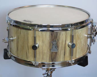"""14""""x6.5"""" Stave Snare Drum, African Walnut Snare Drum, Handmade Snare Drums, Custom Snare Drums, One of a kind Snare drum, Stave Drums"""