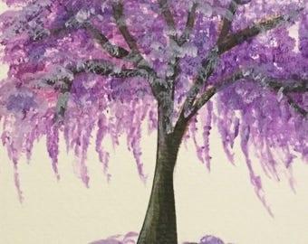 Purple Jacaranda Tree Print