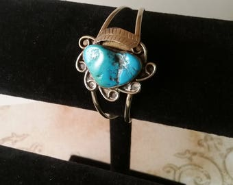 Turquoise Bracelet mexica silver 925 Taxco