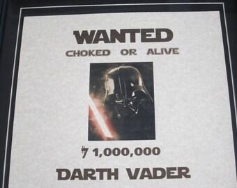 Darth Vader - Star Wars - Wanted Poster
