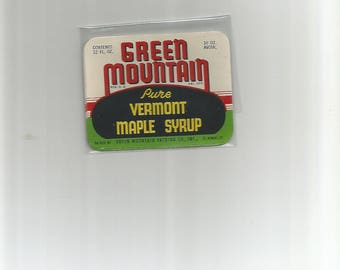10 Green Mountain Syrup Labels N O S  NEWER