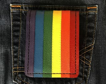 gay pride leather wallets