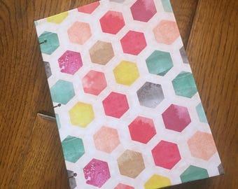 Handmade sketchbook or journal