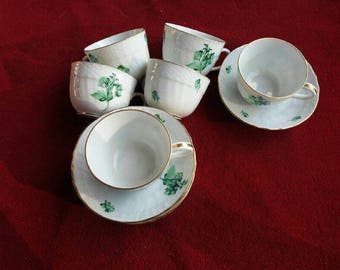 Herend china set of  six coffee cups