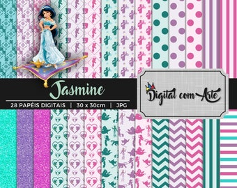 Princess Jasmine Digital Paper